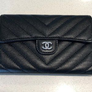 CHANEL | CLASSIC FLAP LONG WALLET | NEW | BLACK